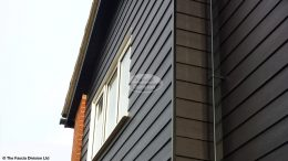 black hardiplank cladding black ash fascias soffits black replacement guttering