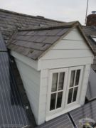 Hardieplank cladding around dorma window