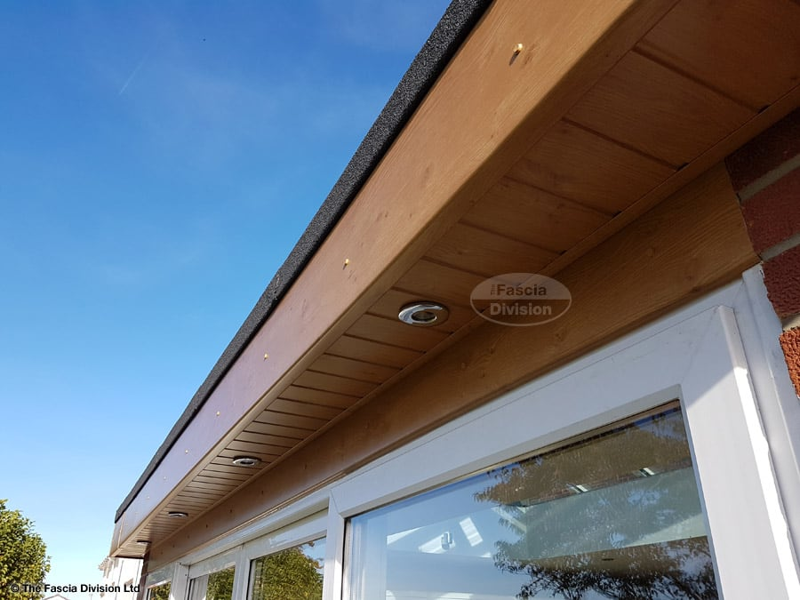 Replace fascia and soffit on a flat roof extension in North