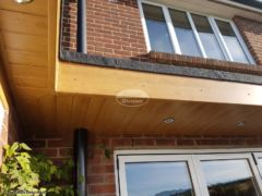 Replace flat roof, fascias, soffits and install LED lighting