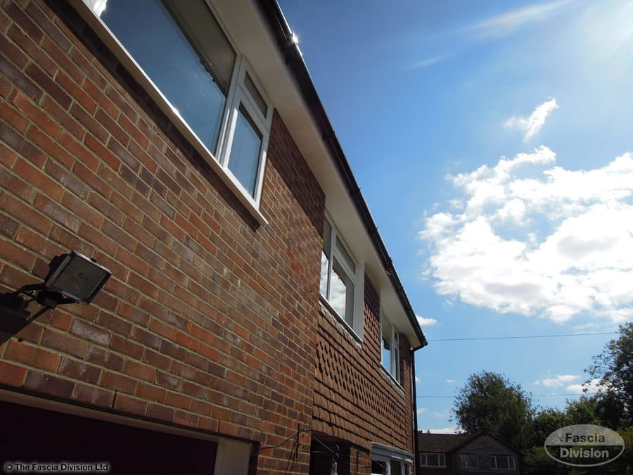 UPVC soffit fascia guttering replacement Otterbourne