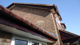 White soffit and Rosewood fascia installation Winchester