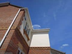 White UPVC fascias soffits and guttering installation
