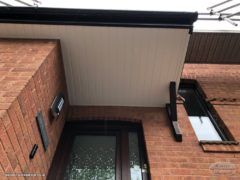 New white UPVC cladding on a porch Bishopstoke