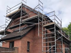 Scaffolding for fascias soffits guttering replacement